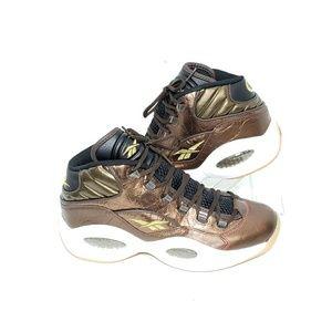 Reebok Question Mid Villa Leather Sneakers Sz 9.5
